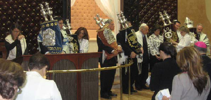 La Congregación B'nei Israel de San José de Costa Rica, con sus rabinos Rami Pavolotzky y Daniela Szuster
