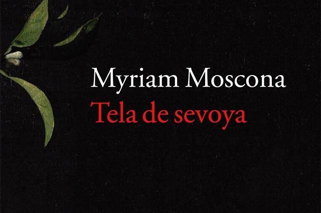 """""""Tela de sevoya"""" con su autora Myriam Moscona"""