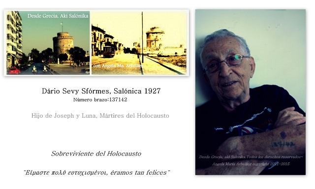 """""""Éramos tan felices"""", Dário Sevy (1927), sobreviviente del Holocausto – Anogeia, Creta, donde los nazis no reciben ni un voto"""