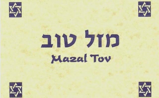 Mazal tov! (y lamed-mem-dalet)