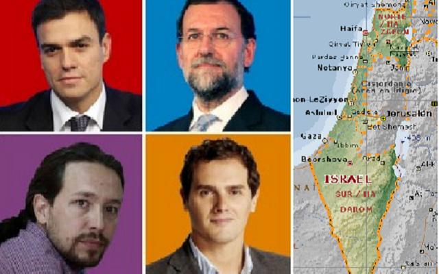 Los aspirantes al gobierno de España e Israel, con Juan Hernández