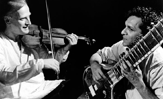 Homenaje a Yehudi Menuhin en su centenario, con Francisco Montalvo… y Raví Shankar