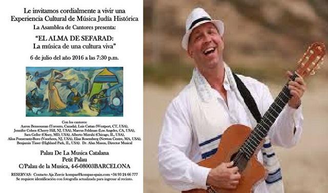 Alma de Sefarad: un concierto de jazaním del mundo, con Marcelo Gindlin