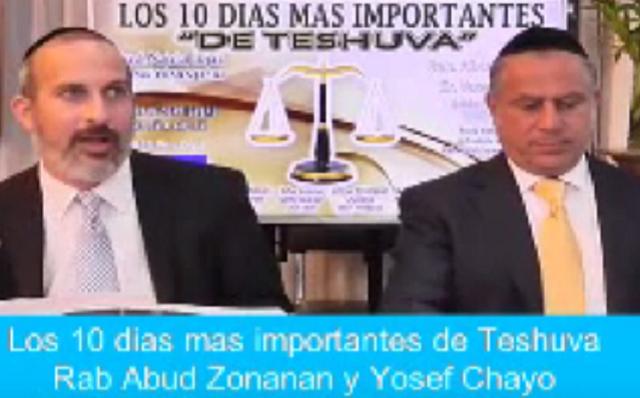 Los 10 días más importantes de Teshuvá, con rab Abud Zonana y Yosef Chayo (Midrash Najalat Itzjak, México, 29/9/2016)