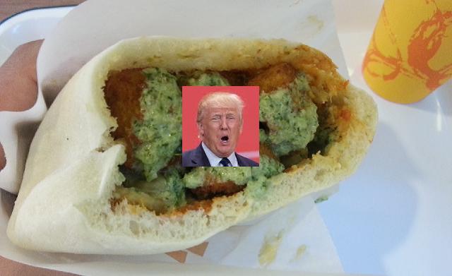 Trump hasta en el falafel