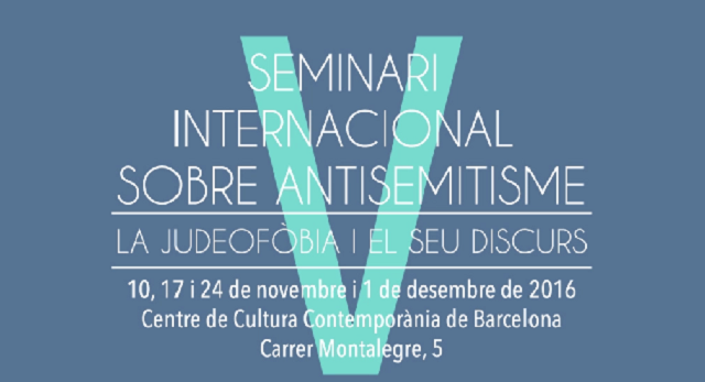 El V Seminario sobre Antisemitismo de Barcelona, con Xavier Torrens