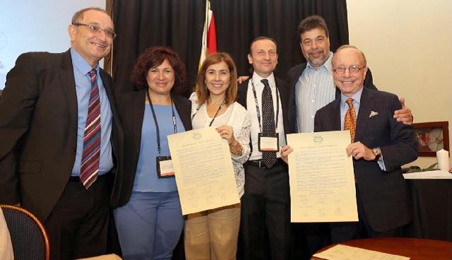 El Centro Ibn Gabirol – Colegio Estrella Toledano firma un acuerdo con ORT Mundial, con su directora Luna Alfon