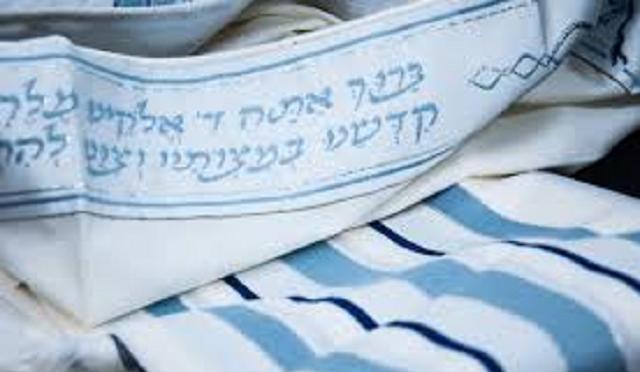 El azul manto de rezar