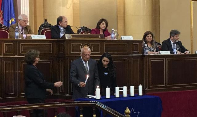 Día oficial de la Memoria del Holocausto y la prevención de los Crímenes contra la Humanidad (Senado, Madrid, 24/1/2019)