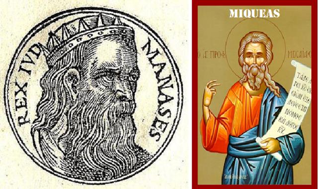La reencarnación del rey Menashé (Manasés) en Mijá (Miqueas)