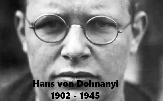 Hans von Dohnanyi, un Justo proveniente de la justicia