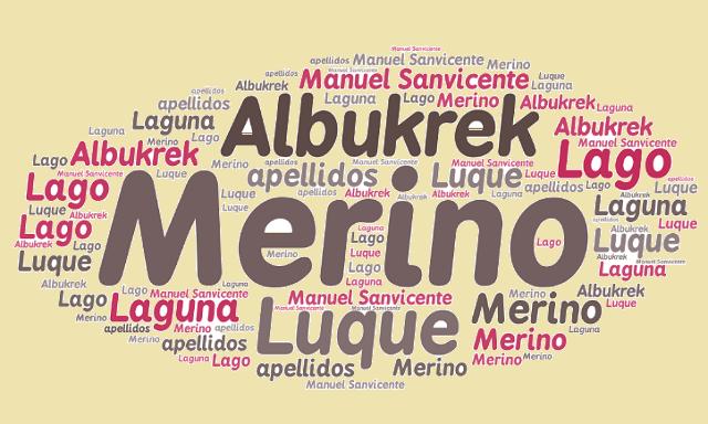 El origen de los apellidos Luque, Laguna, Lago, Albukrek y Merino