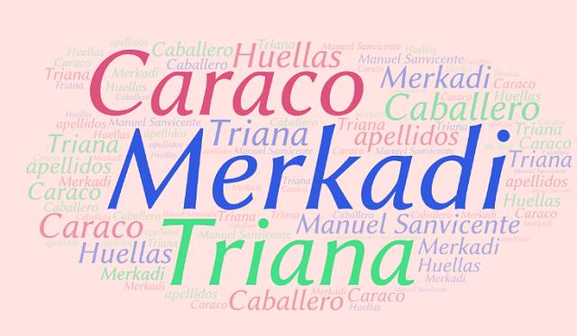 El origen de los apellidos Merkadi, Caraco, Caballero y Triana