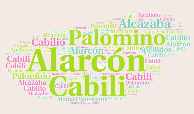 El origen de los apellidos Alarcón, Palomino, Cabili (Cabilio) y Alcazaba