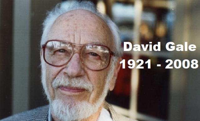 David Gale, pionero en teoría de juegos