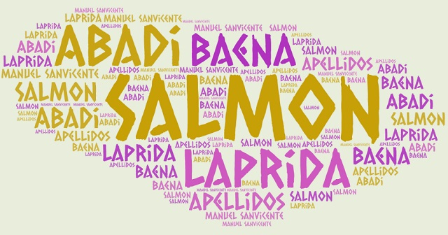El origen de los apellidos Salmon, Baena, Laprida y Abadi