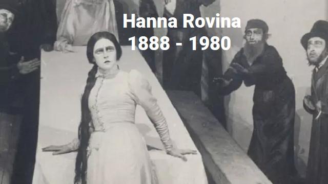 Hanna Rovina, primera dama del teatro israelí