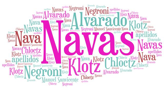 El origen de los apellidos Negroni, Klotz, Alvarado y Nava o Navas