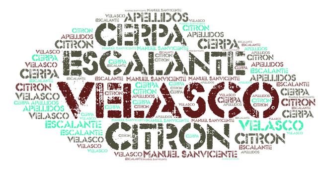 El origen de los apellidos Citrón, Velasco, Escalante y Cerpa