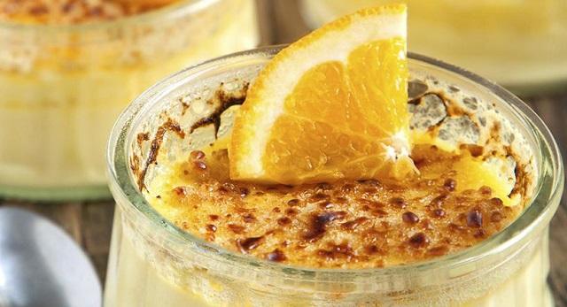 Dulce y otoñal: plátanos a la canela y natillas de naranja