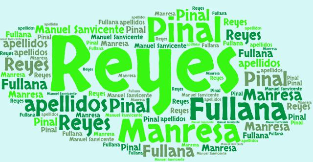 El origen de los apellidos Manresa, Fullana, Reyes y Pinal