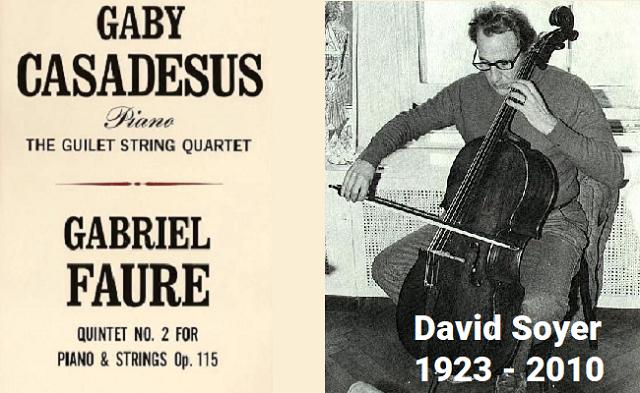 David Soyer en el cuarteto Guilet tocando Fauré