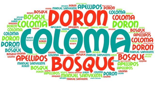 El origen de los apellidos Bosque, Coloma y Doron