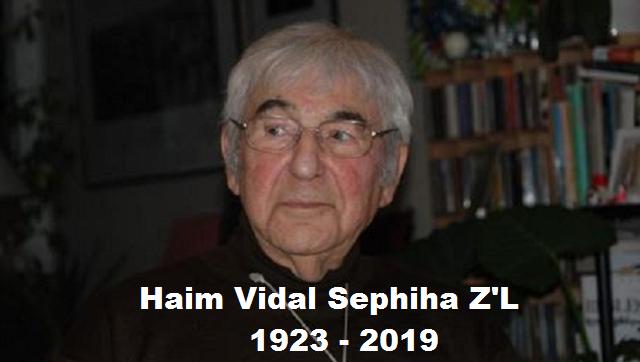 Nos ha dejado Haim-Vidal Sephiha Z'L: el ladino no se habla