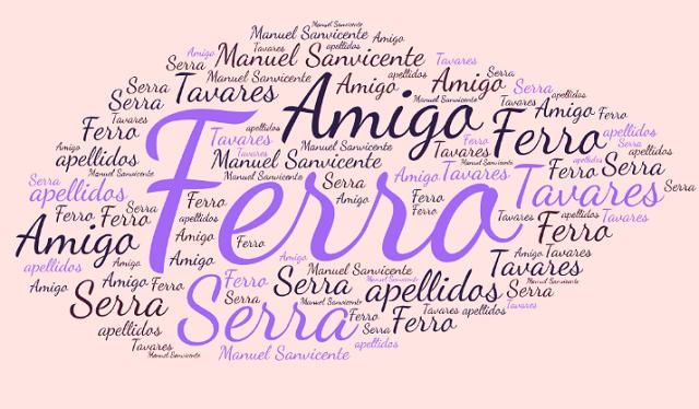 El origen de los apellidos Ferro, Amigo, Serra y Tavares