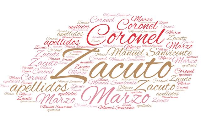 El origen de los apellidos Marzo, Zacuto y Coronel