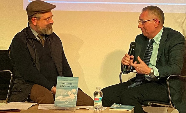 """Presentación del poemario """"Instantes de eternidad"""", de José Israel Garzón (Centro Sefarad Israel, Madrid, 18/2/2020)"""