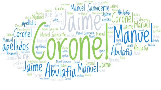 El origen de los apellidos Coronel, Abulafia, Jaime y Manuel