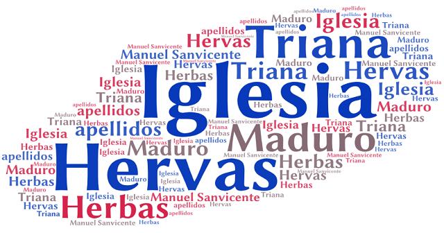 El origen de los apellidos Iglesia, Hervás (Herbas), Triana y Maduro