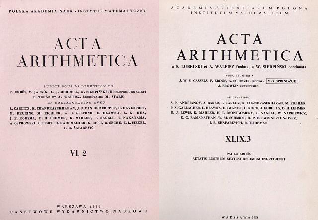 Dos matemáticos unidos por una revista de aritmética
