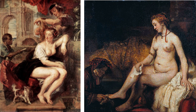 La Betsabé de Rembrandt frente a la de Rubens