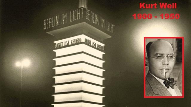 """A 120 años del nacimiento y 70 de la muerte de Kurt Weill, """"Berlín iluminada"""""""