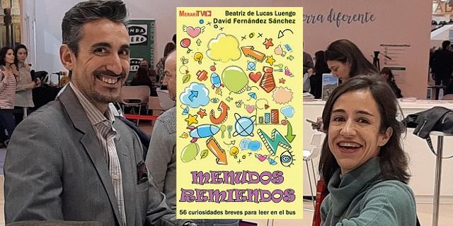 """""""Menudos remiendos"""", con su co-autora Beatriz de Lucas"""