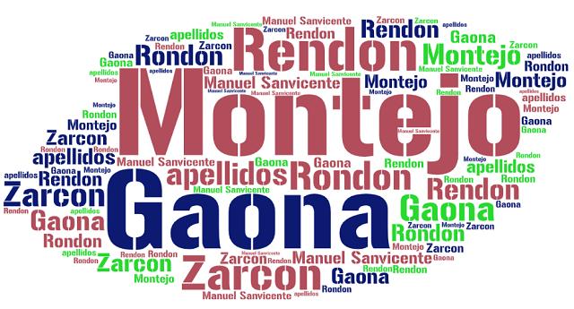 El origen de los apellidos Montejo, Gaona, Zarcon y Rendon (o Rondon)