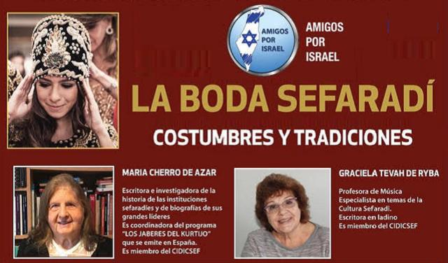 La boda sefardí: costumbres y tradiciones (online, 1/10/2020)
