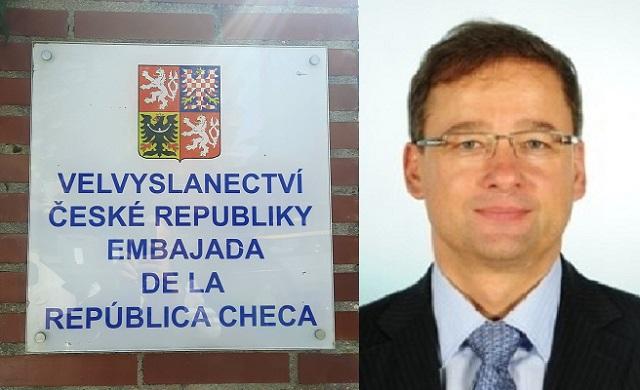 Con el embajador de la República Checa en España, Ivan Jančárek