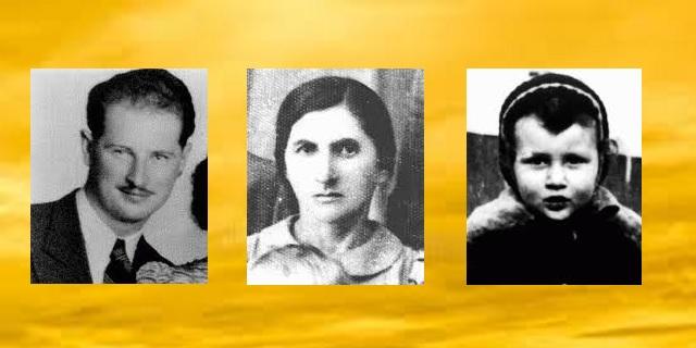 En nuestra memoria Wilhelm Edelstein, Sossia Frenkiel y Henoch Kornfeld