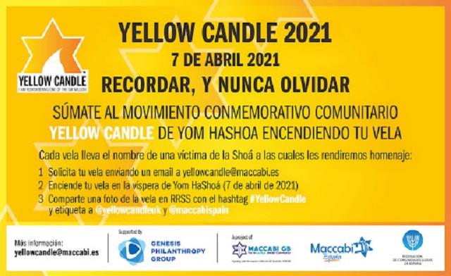 Yellow Candle 2021, recordar y nunca olvidar