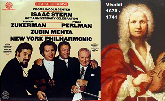 A 280 años de la muerte de Vivaldi, su concierto para tres violines con Stern, Perlman y Zuckerman