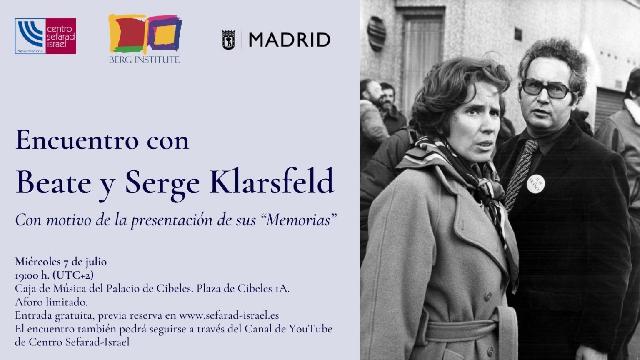 Encuentro con Beate y Serge Klarsfeld (Palacio de Cibeles/Madrid, 7/7/2021)