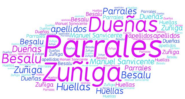 El origen de los apellidos Parrales, Zúñiga, Dueñas y Besalú